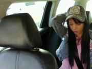 Long black hair Jessika ripped in a taxi