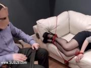 Extremely hardcore BDSM rope sex with asshole action