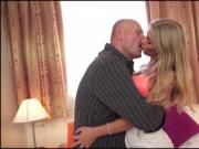Busty Lolly Gartner titfucks and sucking off a grandpas