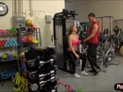 Redhead Farrah Flower fucked in the gym and cum showere