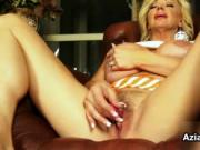 Blonde cougar with massive tits love to masturbate by A