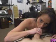 Horny hottie chick loves huge cock