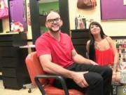 They are in the nail salon and that sexy black slut nee