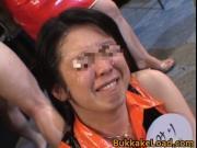 Nipponjin babes in a circle for bukakke skeet bath 2 by