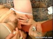 Horny filthy blond woman gets hairy wet pussy dildo fuc