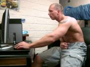 Muscled dude wanking on the net 1 by gotexbf