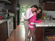 Incredible aroused dark haired mother skank with exciti