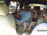 Dude cheating gf with hot fake taxi driver