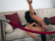 Misty Stone riding her fans cock