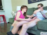 Alaina Dawson takes a huge neighbors cock