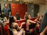 Club stripgirls give steamy performance