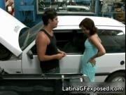 Latin gf night drive backseat sex 1 by LatinaGFexposed
