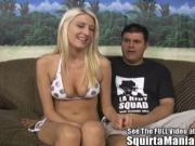 Addison O Reily squirts all over