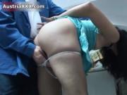 Nasty brunette slut goes crazy licking a dick by Austri