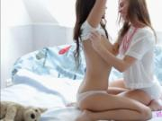 Teens Eden and Frida C foreplay action
