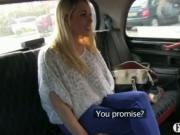 Amateur blonde fucked on hood of taxi