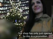 Czech babe gets tits cumhot in public