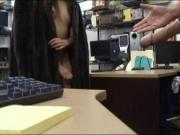 Small tits babe railed by nasty pawn guy in the backroo