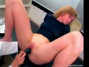 Hot and horny blonde MILF likes going to her dirty doct