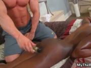 Horny ebony girl gets fucked hard after a workout 4 by
