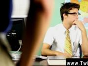Twink sex Krys Perez plays a horny professor who's nos