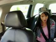 Pretty chick Jessika fucked with driver