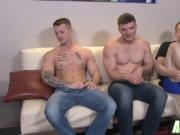 Three hot boys get into some seriously hot business