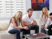 Blonde Vixen Alina West Swallows Dick