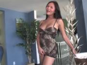 Huge tits tgirl Taylor Stewart jerking off