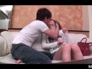 Arousing Japanese girl in short skirt sex teased on the