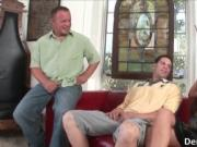 Nasty dude and hot brunette chick suck hard jizzster by