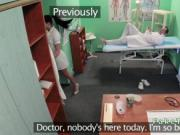 Doctor fucks nurse then patient
