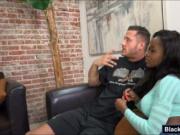 Big juicy tits ebony Jezabel Vessir nailed by white coc