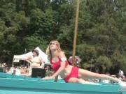 Hot boobed mother undressing public in front of public