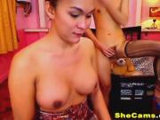 Sexy Tranny Friends With Benefits Masturbation on Cam