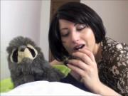 Dazzling Brunette MILF blowing cock