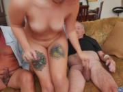 Precious hot chick Sydney Sky having two large dick to