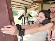 Slut Jaye Summers handcuffed and rammed