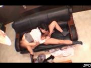 Horny Japanese eating cock for oral sex in sixtynine at