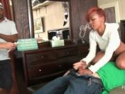 Hot ebony pussy licked in sixtynine for hard cash