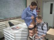 Student Joey Cooper fucked in his tight ass by his teac