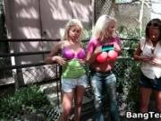 Busty blond bimbo gets her pussy fucked 2 by BangTeamFi