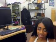 Huge boobs ebony screwed at the pawnshop