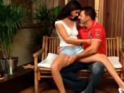 Naughty European brunette girl loves getting her wet pu