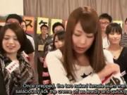 Subtitled Japanese AV stars nude whipped creme game