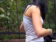 Amateur Eurobabe Rosalinda fucked and receives cum in m
