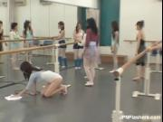 Nasty and sexy Asian ballerina is so horny while her va