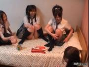 Horny girlfriends from Japan having a dirty good time b