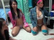 Boob flashing college sluts playing dress up