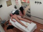 Super looking juvenile giving sensual massage to some l